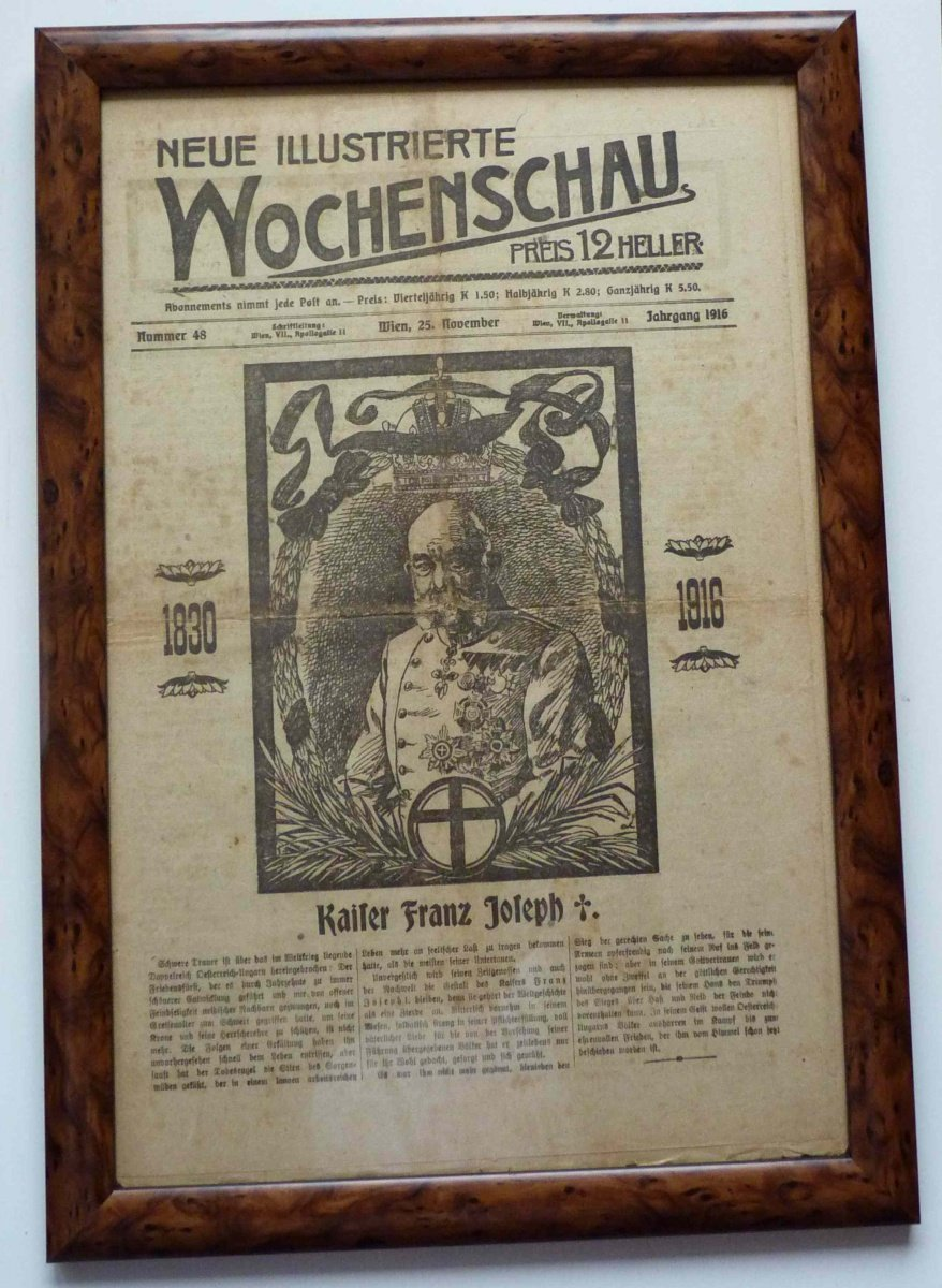Wochenschau - complete papers / death of Franz Joseph I.