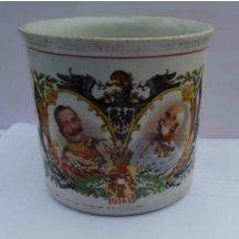 Veliký hrníček - kafák s portréty císaře Viléma a Františka Josefa