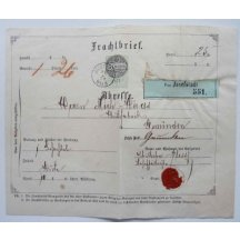 Cargo sure a printed stamp-Josefov 1872