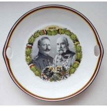 Talíř - dvojportrét Wilhem II. a Franz Josef I.