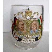 Glass beer mug - Franz Joseph I and Wilhelm II.