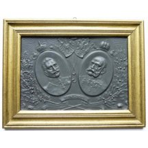 Small embossed image - Franz Josef and Wilhelm