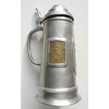 Pewter tankard - pint ornament is used for officer signs