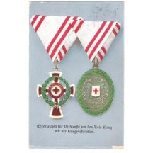 Red cross - two honours for excellent services