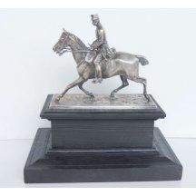 Franz Joseph I. on horse , silver - very elaborate exhibit