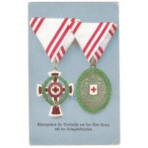 Honour for merits in Red cross with war decoration