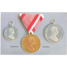 Set of postcards of a honour - medals
