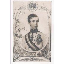 Císař Franz Josef I. se šerpou při nástupu do vlády, 1848