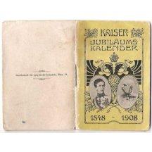 Kalendář - na každý měsíc je jeden portrét s císařem Franz Josefem