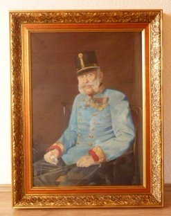 Franz Joseph is sitting in staff uniform