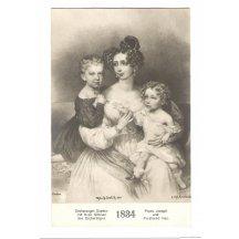 Císařovna Sophie se synem Franz Josefem a Ferdinandem Maxem