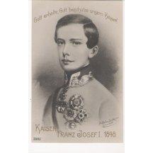 Mladý císař Franz Josef I. při nástupu do vlády, 1848