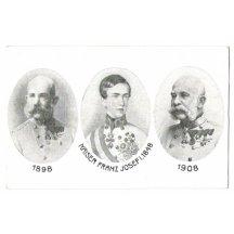 Trojportrét (1848, 1898, 1908) k výročí 60 let vlády Franz Josefa I.