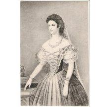 Císařovna Elisabeth (Sissi) na malovaném portrétu