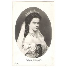 Portrait of Elisabeth with crown in an oval frame
