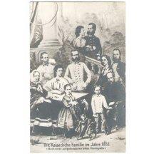 Císařská rodina na společné fotografii- r.1863, jiný odstín