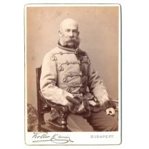 Plate photo, sitting Franz Joseph, photo from Budapest - extraordinary