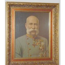 Painting of Franz Joseph, extremely high-quality frames
