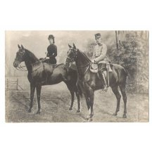 Elisabeth a Franz Joseph na koních
