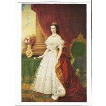 Barevný portrét, Elisabeth v šatech s červenou vlečkou