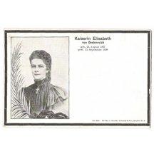 Císařovna Elisabeth s údaji dne narození a dne úmrtí