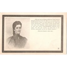 Portrét rakouské císařovny Elisabeth -ve smutečním vydání