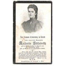Lístek k úmrtí Elisabeth
