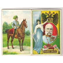 Colored paint of Franz Joseph on horse