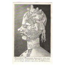 Italská alegorická karikatura Franz Josefa I. (italsky Francesco Giuseppe)