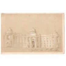 Velký palác ve Vídni-Hofburg , proti světlu je průsvit - sedící Franz Josef