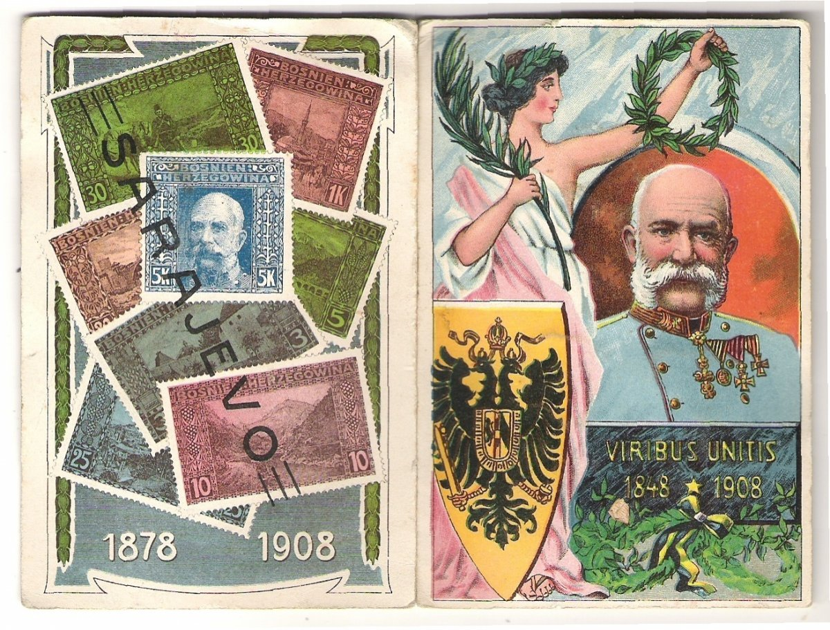 Seewing tools - post stamps with Franz Joseph I.