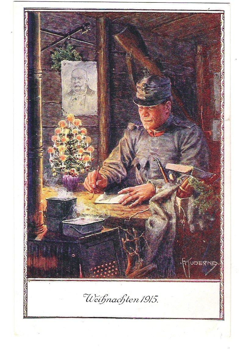 Vánoce 1915 - vojenská pohlednice