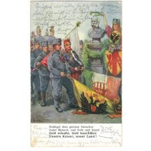 Společné foto celé jednotky u sochy Franz Josefa