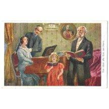 Franz Joseph na obrázku a zpívající rodina