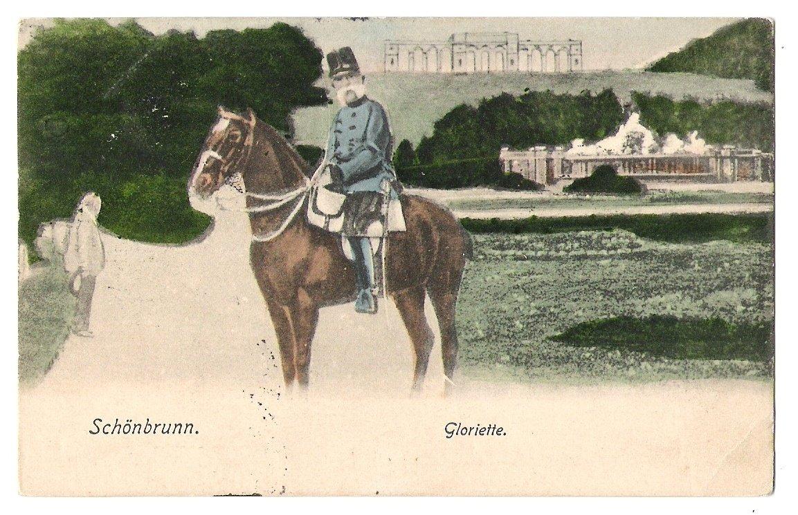 Císař Franz Joseph na koni, Vídeň