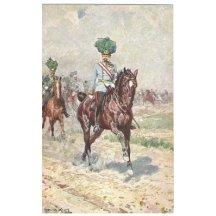 Franz Josef na koni projíždí ornicí