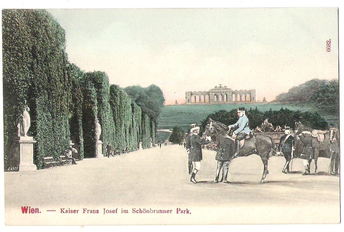 Emperor Franz Joseph I. in Schönbrunn park