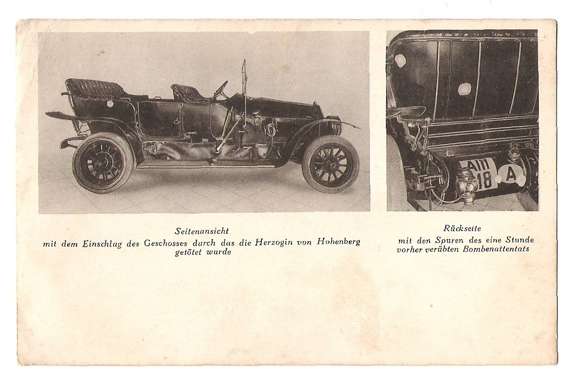 Car, inside which was Franz Ferdinand and his wife murdered