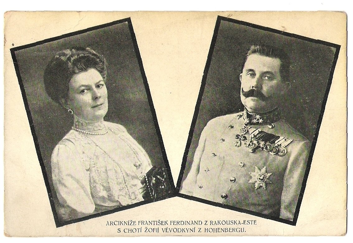 Archdude Franz Ferdinand with his wife Sophia