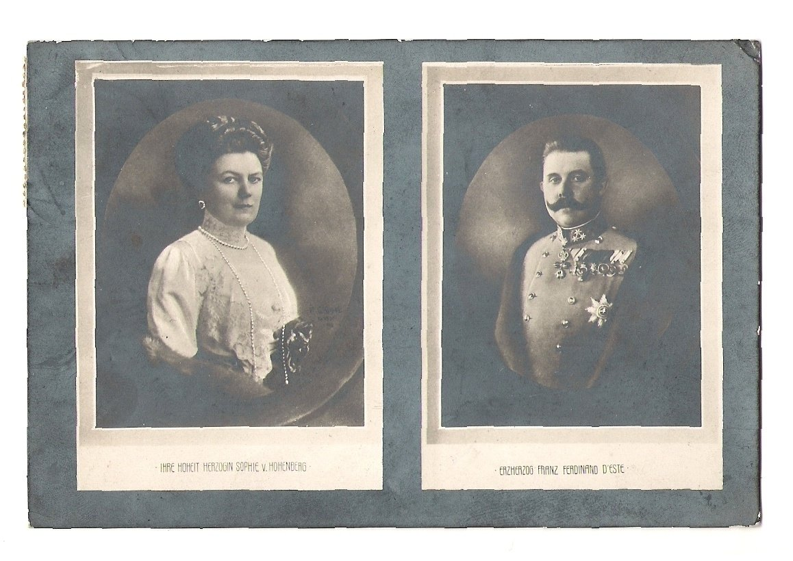 Empress Sophia and Franz Ferdinand on photographs