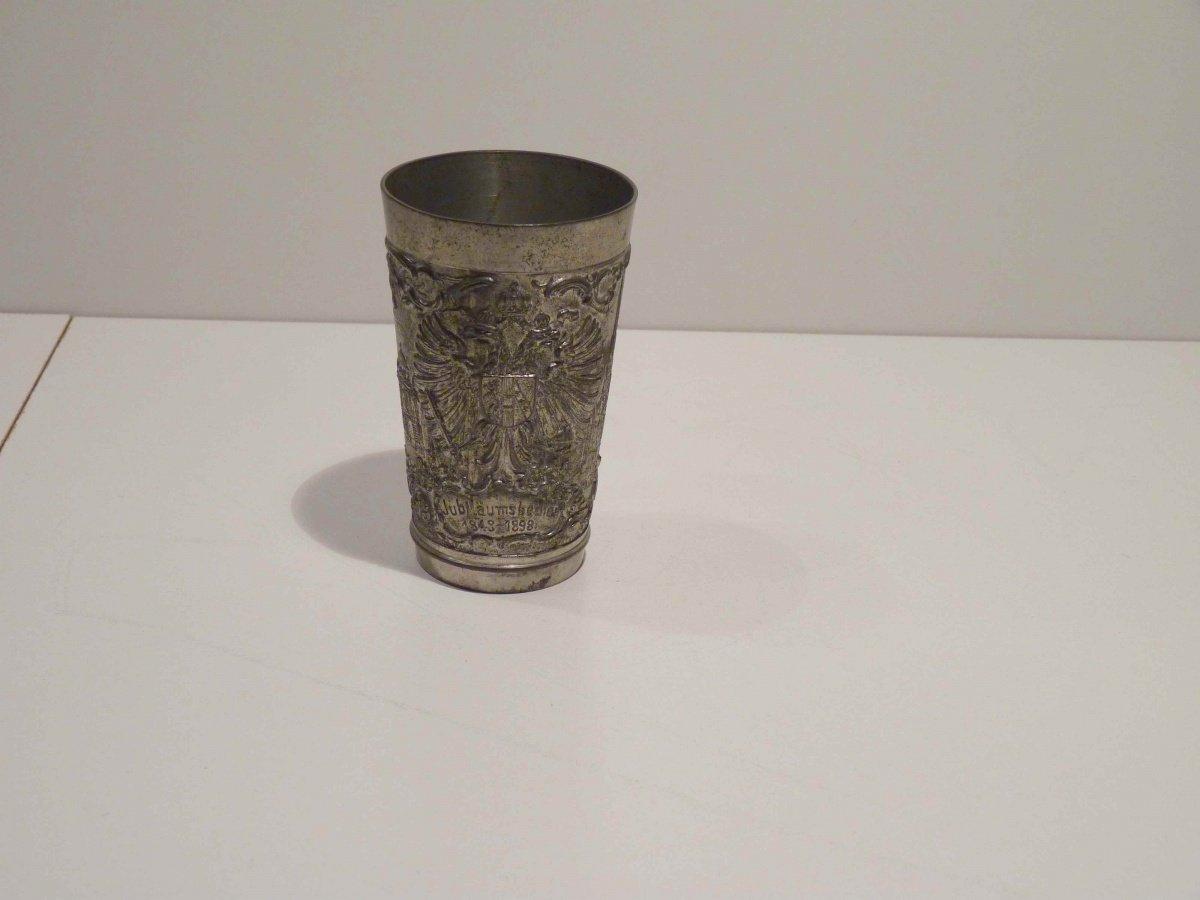 Cínový pohárek - 50. výročí vlády císaře Františka Josefa a Schönbrunn