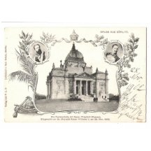 Postcard from Görlitz - Friedrich museum and emperor Wilhelm II.