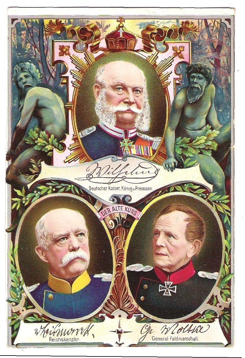Císař Franz Josef, německý kancléř a generál- maršál