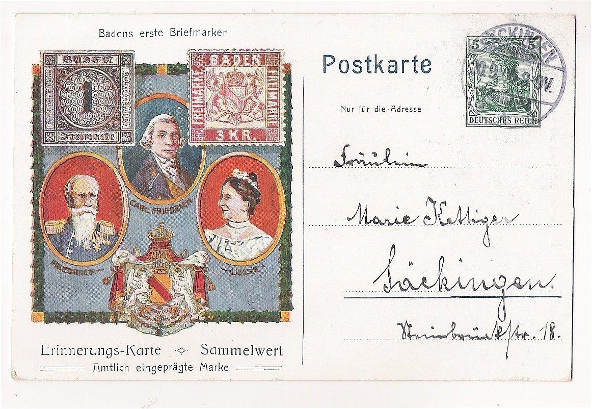 Carl Friedrich , Friedrich a Luise na pohlednici