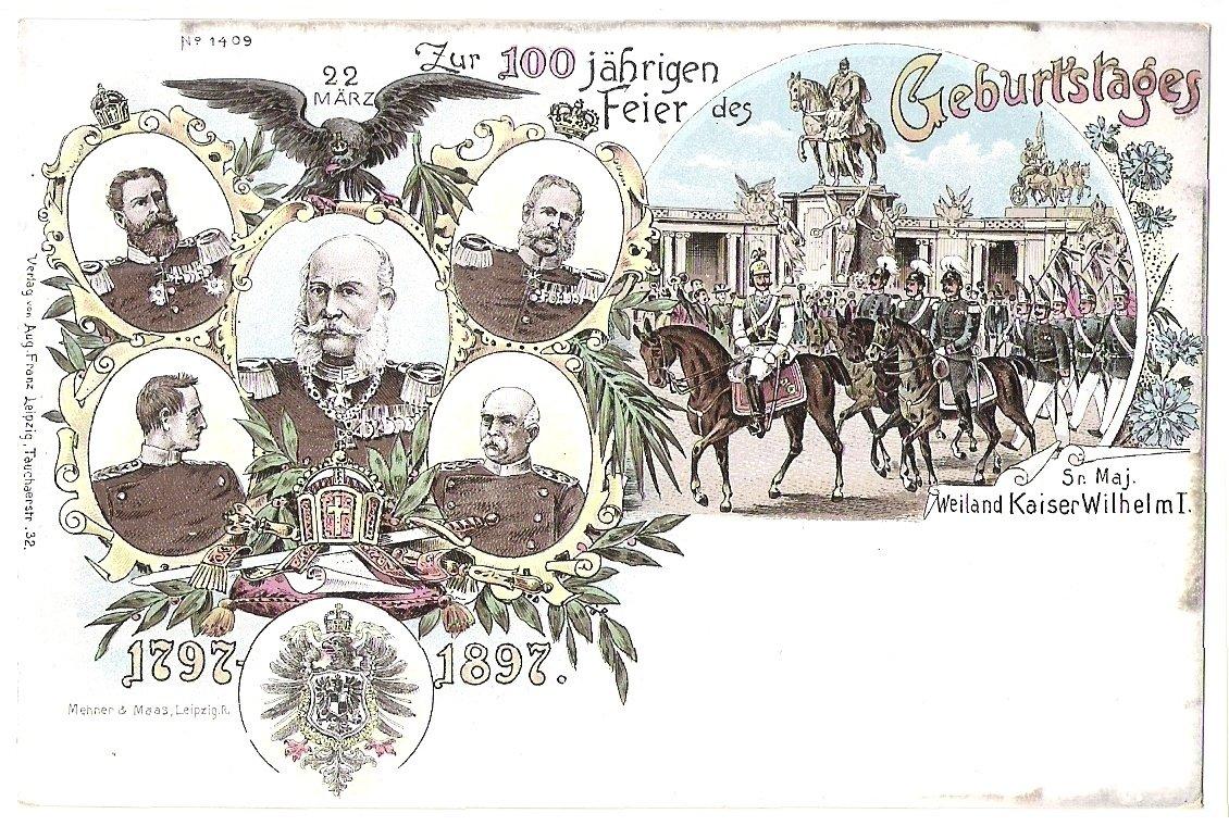 Císař Wilhelm (uprostřed) a jeho spojenci