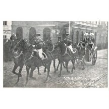 King Alfons from Spain and emperor Franz Joseph in coach