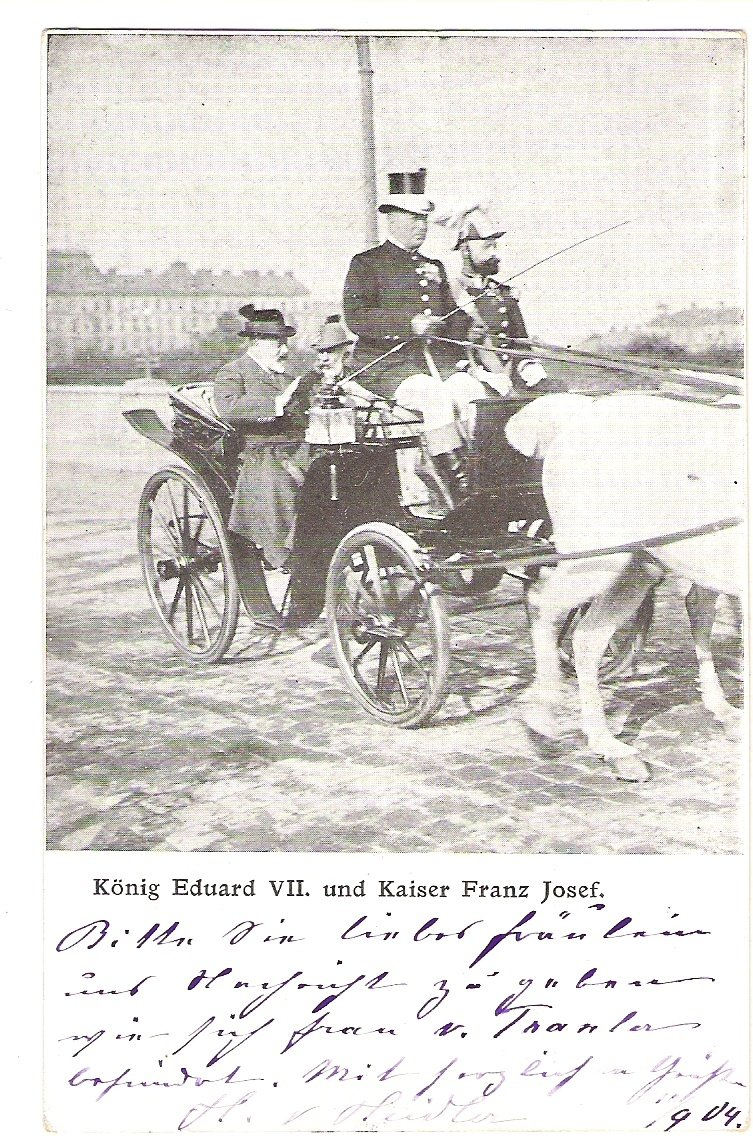 Emperor Franz Joseph and king Edward VII. on the way