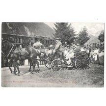 V kočáru jedou císař Franz Josef a princ Leopold