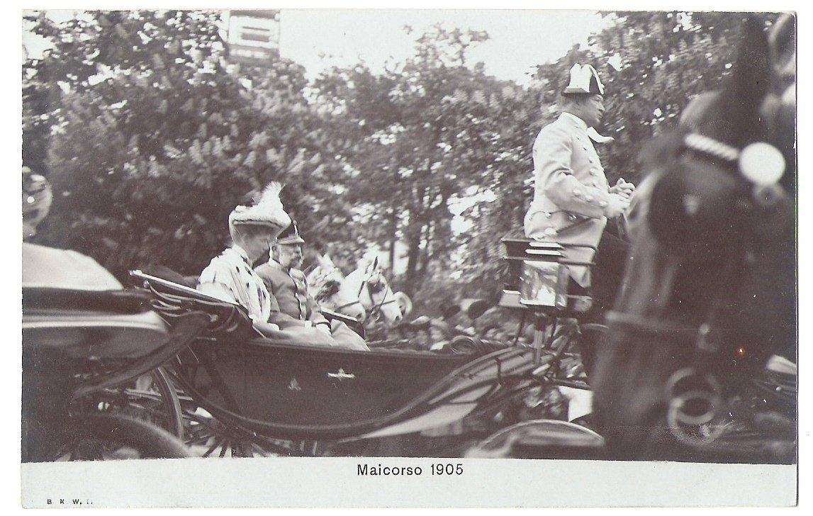 Emperor Franz Joseph on a ride in Wien