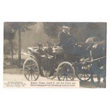 Císař František Josef je na cestě k místu lovu u Steinkogelu